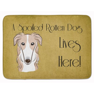Borzoi Spoiled Dog Lives Here Memory Foam Bath Rug