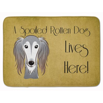 Langenfeld Saluki Spoiled Dog Lives Here Memory Foam Bath Rug