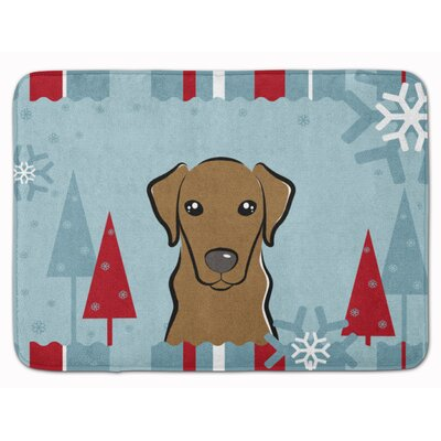 Winter Holiday Labrador Memory Foam Bath Rug