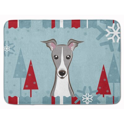 Winter Holiday Italian Grayhound Memory Foam Bath Rug