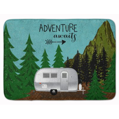 Ebaugh Airstream Camper Adventure Awaits Memory Foam Bath Rug
