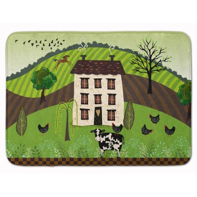 Folk Art Country House Memory Foam Bath Rug