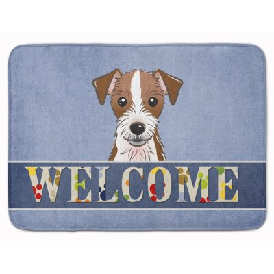Jack Russell Terrier Welcome Memory Foam Bath Rug