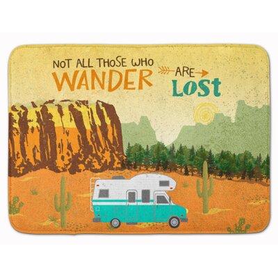 RV Camper Camping Wander Memory Foam Bath Rug