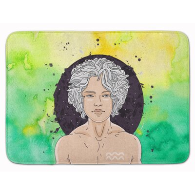 Aquarius Zodiac Sign Memory Foam Bath Rug
