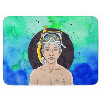 Pisces Zodiac Sign Memory Foam Bath Rug