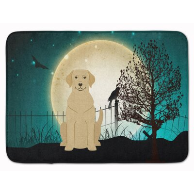 Halloween Scary Labrador Memory Foam Bath Rug