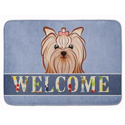 Yorkshire Terrier Welcome Memory Foam Bath Rug