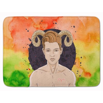 Aries Zodiac Sign Memory Foam Bath Rug
