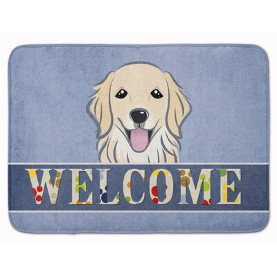 Retriever Welcome Memory Foam Bath Rug