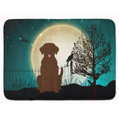Halloween Scary Chocolate Labrador Memory Foam Bath Rug
