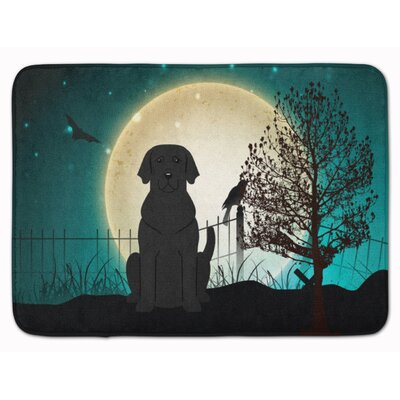 Halloween Scary Black Labrador Memory Foam Bath Rug