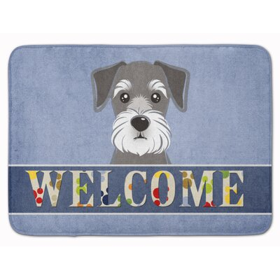 Schnauzer Welcome Memory Foam Bath Rug