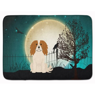 Halloween Scary Cavalier Spaniel Memory Foam Bath Rug
