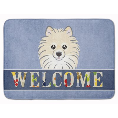 Pomeranian Welcome Memory Foam Bath Rug