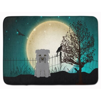 Halloween Scary Glen of Imal Memory Foam Bath Rug Color: Gray