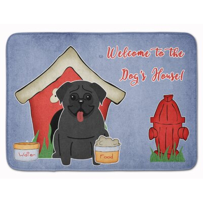 Dog House Pug Memory Foam Bath Rug Color: Black