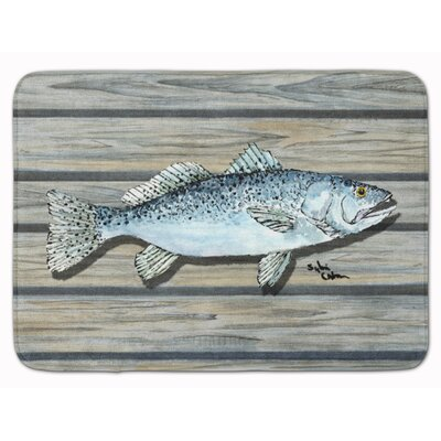 Fish Speckled Trout Memory Foam Bath Rug