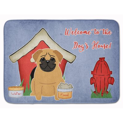 Dog House Pug Memory Foam Bath Rug Color: Brown