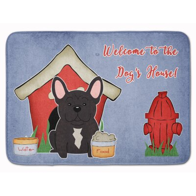 Dog House French Bulldog Brindle Memory Foam Bath Rug Color: Brindle