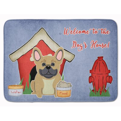 Dog House French Bulldog Brindle Memory Foam Bath Rug Color: Cream