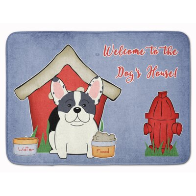 Dog House French Bulldog Piebald Memory Foam Bath Rug