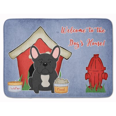 Dog House French Bulldog Memory Foam Bath Rug Color: Black