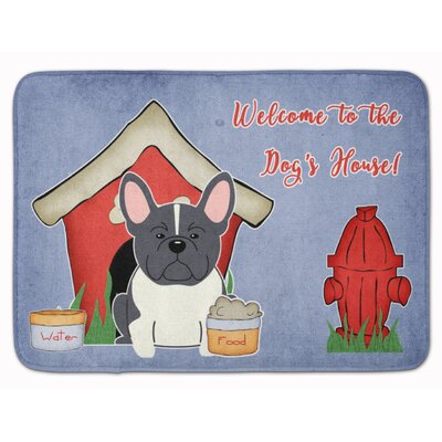Dog House French Bulldog Memory Foam Bath Rug Color: Black/White
