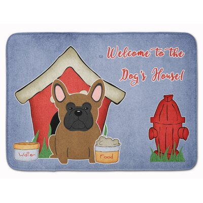 Dog House French Bulldog Memory Foam Bath Rug Color: Brown