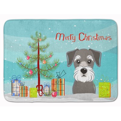 Christmas Tree and Schnauzer Memory Foam Bath Rug