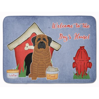 Dog House Mastiff Brindle Memory Foam Bath Rug Color: Brindle