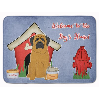 Dog House Mastiff Memory Foam Bath Rug Color: Brown