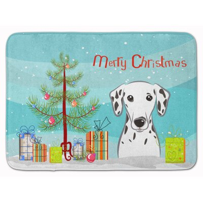 Christmas Tree and Dalmatian Bath Rug