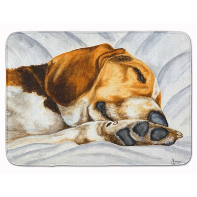 Beagle Bliss Memory Foam Bath Rug
