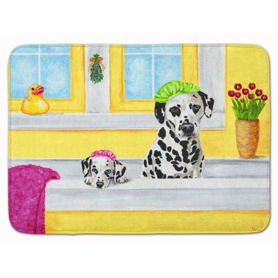 Bath Day Dalmatian Memory Foam Bath Rug