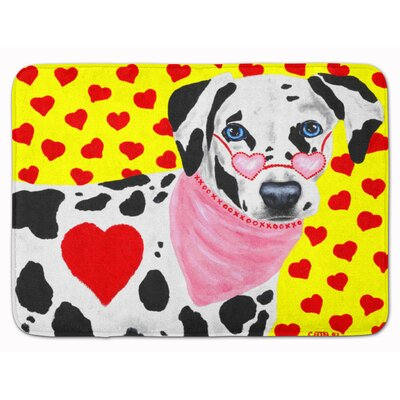 Hearts and Dalmatian Memory Foam Bath Rug