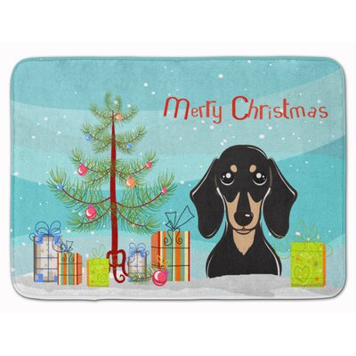 Christmas Tree Dachshund Memory Foam Bath Rug