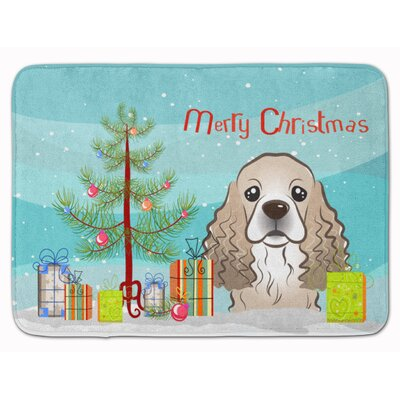 Christmas Tree and Cocker Spaniel Memory Foam Bath Rug