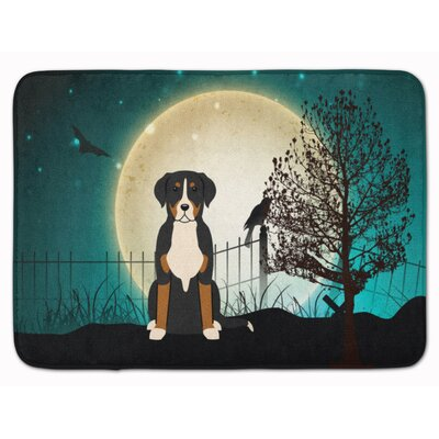 Halloween Greater Swiss Mountain Dog Memory Foam Bath Rug