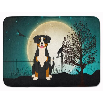 Halloween Scary Entlebucher Memory Foam Bath Rug