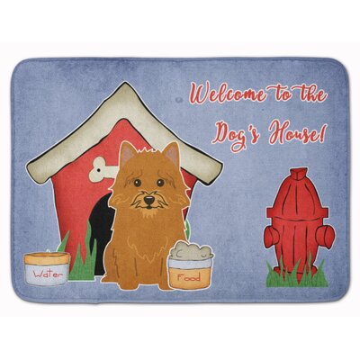 Dog House Norwich Terrier Memory Foam Bath Rug
