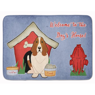 Dog House Basset Hound Memory Foam Bath Rug