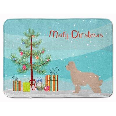 Pyrenean Shepherd Dog Christmas Tree Memory Foam Bath Rug