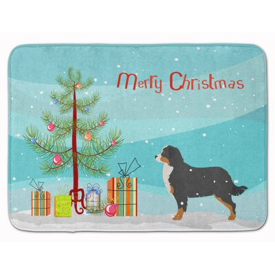 Bernese Mountain Dog Christmas Tree Memory Foam Bath Rug