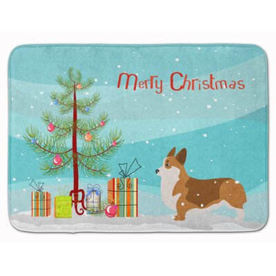 Corgi Merry Christmas Tree Memory Foam Bath Rug