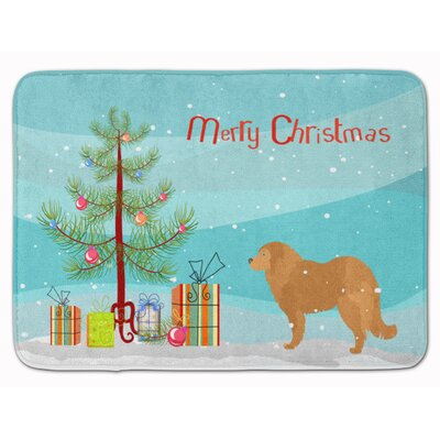Caucasian Shepherd Dog Christmas Tree Memory Foam Bath Rug