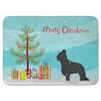 Briard Merry Christmas Tree Memory Foam Bath Rug