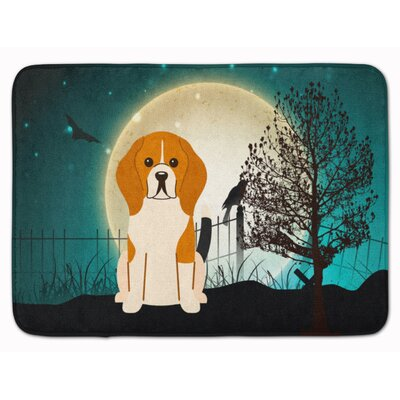 Halloween Scary Beagle Memory Foam Bath Rug