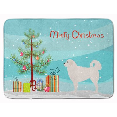 Polish Tatra Sheepdog Christmas Tree Memory Foam Bath Rug