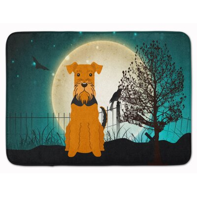 Halloween Scary Airedale Memory Foam Bath Rug